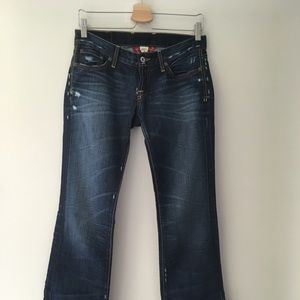 Lucky Brand distressed denim, boot cut size 2